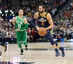 Ricky Rubio roza el 'triple-doble' en la derrota sobre la bocina de Utah ante Boston