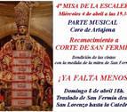 La Corte de San Fermín será homenajeada en la cuarta misa de la escalera