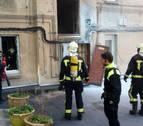 Un incendio causa daños en una cocina en el Casco Antiguo de Pamplona