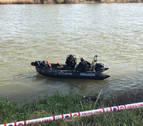 Los bomberos continúan la búsqueda del desaparecido en el río Ebro en Lodosa