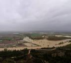Las crecidas de Arga, Ega, Arakil y Ebro amenazan hoy con nuevas inundaciones