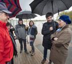 Barkos valora la coordinación policial y municipal ante las inundaciones en la Ribera