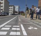 El carril bici de Estella provoca las primeras quejas tras su estreno