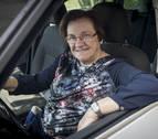 Ludi fue la primera mujer taxista en Navarra
