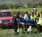 """Uno de los heridos en Lantz: """"El conductor del autobús iba despacio"""""""