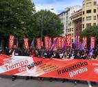 UGT y CC OO reúnen a 2.500 personas en Pamplona en el Día Internacional del Trabajo