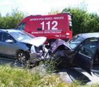 Cuatro heridos, uno de ellos grave, en una colisión en la NA-8607, entre Tafalla y Pueyo