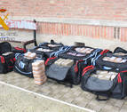 Tres detenidos y 347,9 kilogramos de hachís intervenidos en Roncesvalles