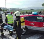 125 efectivos participan en el simulacro de accidente aéreo en el Aeropuerto de Noáin