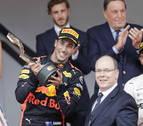 El australiano Ricciardo gana el GP de Mónaco, Sainz 10º y Alonso se retira