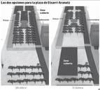 Etxarri Aranatz decide entre dos opciones de la cubierta de la plaza
