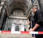 Un tiroteo en la catedral de Berlín se salda con dos heridos, entre ellos un policía