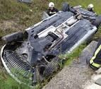 Doble accidente en la A-15 de forma simultánea con cinco heridos leves