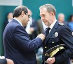 Reconocimiento en Salamanca al jefe de la Policía Municipal de Pamplona