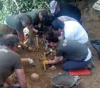 Exhumados en Artazu los restos de dos víctimas del golpe militar de 1936