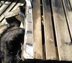 Localizan droga oculta en los palés de un camión que ardió en Arazuri