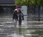 Esta noche entra un frente en Navarra que dejará lluvia abundante y nieve