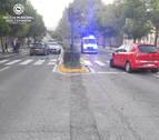 Cuatro heridos en un aparatoso choque en la avenida de Aróstegui