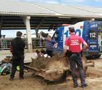 Herido grave un trabajador en Caparroso al ser atropellado con un apero