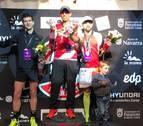Hicham Hafidie Inma Sainz dan lustre a la carrera 'Txupinazo'