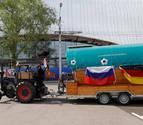Un hincha alemán llega en tractor al Mundial de Rusia tras 30 días de viaje