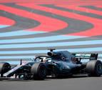 Hamilton logra en Paul Ricard su tercera