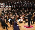 El Orfeón, OSN y Coral de Pamplona, juntos por primera vez en un concierto
