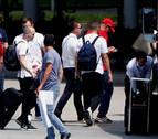 La selección española llegó a Madrid tras quedar eliminada del Mundial