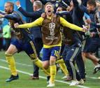 Forsberg guía a Suecia a los cuartos de final
