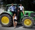 De intercambio y en tractor en Orkoien