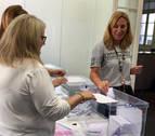 Beltrán deposita su voto para elegir al próximo presidente del PP
