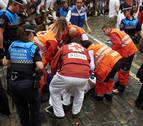 Cruz Roja realiza 63 atenciones tras el primer encierro de los Sanfermines