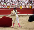 Tres toros de El Puerto, dos orejas y una cornada a Ureña el día del patrón San Fermín
