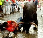 Tercer encierro bajo la lluvia en los últimos 27 años en Pamplona