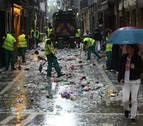 Mancomunidad recogió menos residuos que el año pasado durante San Fermín