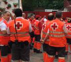 Cruz Roja y DYA atienden a 80 personas tras el tercer encierro