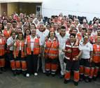 Asiron visita el dispositivo de Cruz Roja en Sanfermines