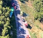 Un fallecido al chocar su vehículo contra un camión en Cadreita