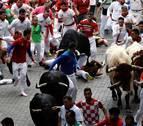 Uno de los corredores más reconocidos de Pamplona, entre los heridos en el sexto encierro