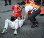 El experimentado corredor herido en el encierro cayó al intentar