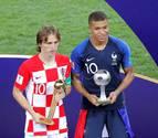 Mbappe y Modric, nombrados los mejores del Mundial