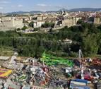 Las cuatro ubicaciones para las barracas en Pamplona