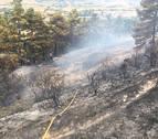 La avería de una cosechadora, causa del incendio en Obanos