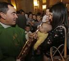 San Miguel de Aralar acogió este domingo a una treintena de niños