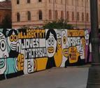 Valencia borrará el mural sobre la sentencia de Alsasua al quedar dañado