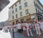 La procesión de Tudela con música de pasodoble