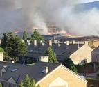 Extinguido un incendio provocado entre Zizur Mayor y Galar