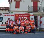 Cruz roja despliega en Lodosa un dispositivo diario de veinticinco voluntarios