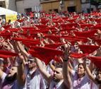 Las mujeres inician las fiestas en Arguedas