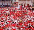 Emocionado cohete en Fustiñana para el alcalde Sola